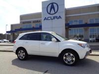 2009 Acura MDX Technology in Pearl White w/ Parchment