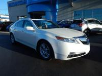 CARFAX One-Owner. Clean CARFAX. White 2009 Acura TL 3.5