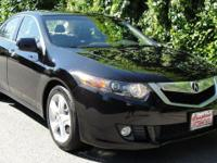 New Price! Clean CARFAX. Crystal Black Pearl 2009 Acura
