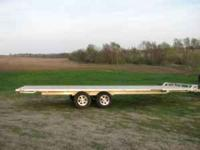 Description 2010 Aluma 24' tandem axle, flat bed, all