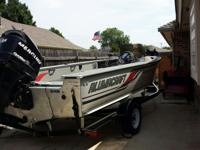 This 2009 Alumacraft Tournament 195 CS with a 135 HP