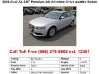 2009 Audi A4 2.0T 2dr All-wheel Drive quattro Cabriolet