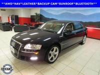 LEATHER, NAVIGATION, and SUNROOF. A8 L 4.2 quattro and