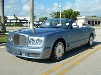 The Bentley Azure is built as standard with many fine