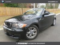 ONLY 45,939 Miles! 128i trim, Jet Black exterior and
