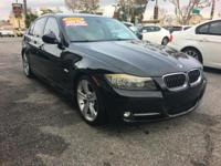 This BLACK 335I IS A ONE OWNER, CLEAN CARFAX VEHICLE