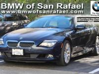 Options:  2009 Bmw 6 Series 2Dr Cpe 650I|4-Wheel
