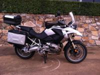 2009 BMW R1200GS experience sport motorcycle. The bike