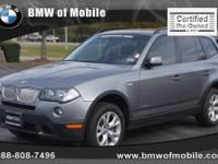 BMW of Mobile presents this 2009 BMW X3 AWD 4DR 30I