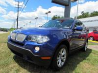 VERY SHARP 2009 BMW X3 IN RICH METALLIC BLUE FEATURING