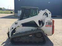 2009 Bobcat T190 Cab-Heat-A/C 2 Speed Power Bob-Tach