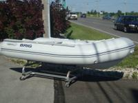2009 Brig inflatable RIB Hard bottom boat. Comes