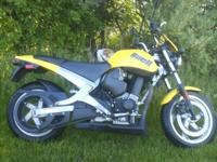 FUN FACTOR the Buell Blast is a machine that represents