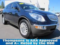 GM PRE- OWNED CERTIFIED.....2009 Buick Enclave CXL with