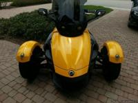 2009 Can AM Spyder GS.  Very low original Miles