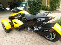 2009 Can AM Spyder GS.  Very low original Miles 1951.