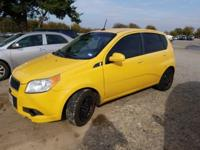 Clean CARFAX. Summer Yellow 2009 Chevrolet Aveo5 LS FWD