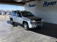 Clean CARFAX. Pewter 2009 Chevrolet TrailBlazer LT 1LT