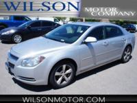 Clean CARFAX. Silver Ice Metallic 2009 Chevrolet Malibu
