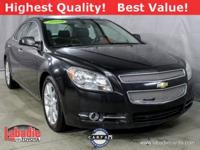 New Price! 2009 Chevrolet Malibu LTZ Black Granite