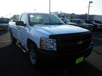 This White 2009 Chevrolet Silverado 1500 is powered by