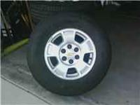 We have a set of 2009 OEM Chevy tires and wheels. 17""