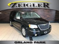 Black 2009 Chrysler Town & Country Limited FWD 6-Speed