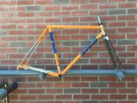 2009 COLNAGO MASTER frame and fork in vivid orange.