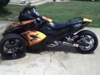 Available is a custom-made Could Am Spyder with only