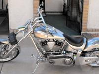 2009 CUSTOM BIKE, WAR EAGLE SOFT TAIL FRAME, 100 C.I.