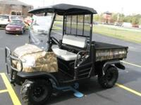 2009 KUBOTA RTV900 4X4 DIESEL CAMO PACKAGE WINDSHIELD