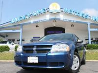 2009 DODGE AVENGER BLUE WITH BLACK BLOTH INTERIOR.