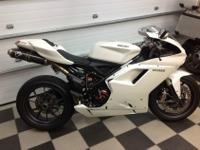 Almost best 2009 Ducati 1198, pearl white, Termignoni
