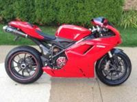 This is a 2009 Ducati 1198 in outstanding condition.