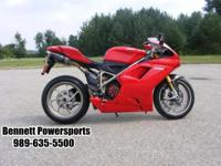 For Sale 2009 Ducati 1198 S, producing 170 horse power