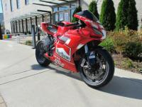 This is a 2009 Ducati 1198 (Marlboro/Alice Racing