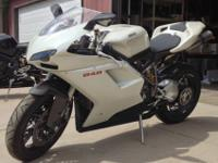 Sweet Pearl White 2009 Ducati 848 Superbike. Seriously