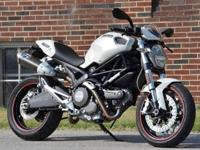This 09 Ducati Monster in white is a one owner, local