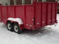"2009 B&B STURDY DUMP TRAILER. 81"" X 16 FT. WITH 4 'FT."