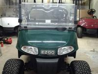2009 ez go rxv electric golf cart with roof, fold down