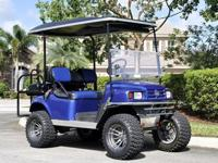 35f,,2009 EZGO Golf Car w/ Trailer Full Custom Cart 36V