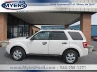 2009 Escape XLT 4WD. One Local Owner. Clean Carfax!