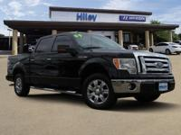 CREW CAB, Black 2009 Ford F-150 full size pickup, RWD,