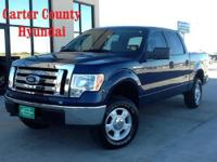 This is a 2009 FORD F-150 XLT CREW CAB 4X4 that we just