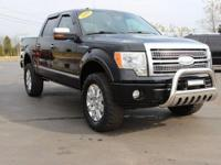 Clean CARFAX. This 2009 Ford F-150 Platinum in Black