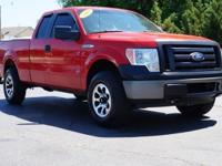 This 2009 Ford F-150 XL in Bright Red Clearcoat
