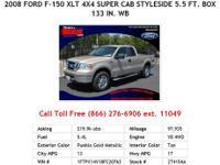 2009 Ford F-150 Black XLT 4x2 Super Cab Styleside 5.5