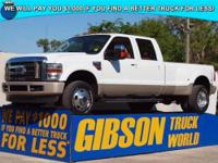 WWW.GIBSONTRUCKWORLD.COM*2009 Ford F350 King Ranch Crew