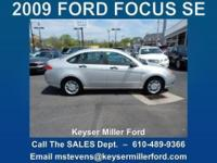 FOCUS ON YOUR FUTURE in this 2009 FORD FOCUS SE with a