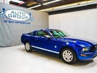 2009 FORD MUSTANG: VISTA BLUE METALLIC / CHARCOAL.